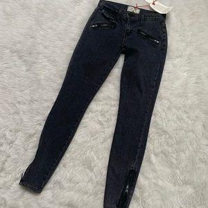 Current Elliott side zip skinny jeans size 23